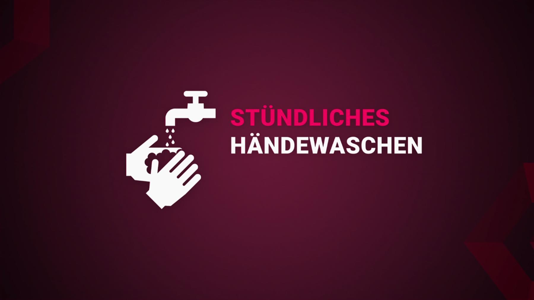 Stündliches Händewaschen