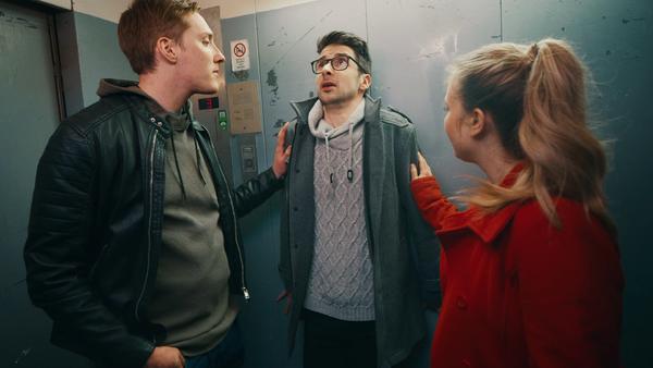 Gefangen im Fahrstuhl