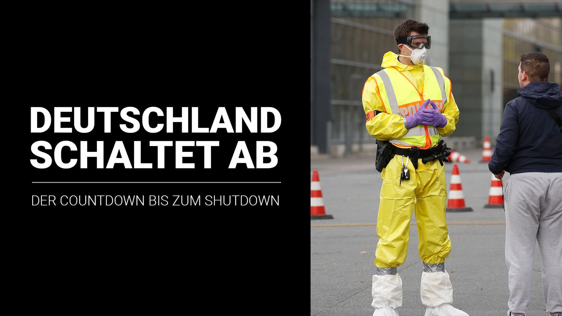 Deutschland schaltet ab – der Countdown bis zum Shutdown