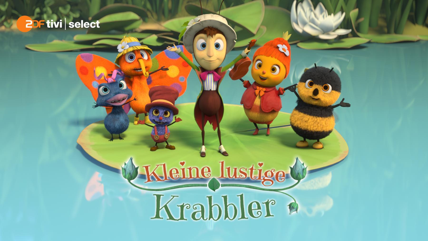 Kleine lustige Krabbler