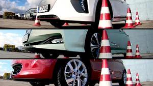 Thema u.a.: Elektroautos im Vergleichstest