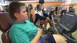 Vater hat Angst um seine übergewichtigen Kinder