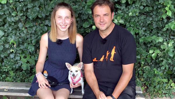 Heute u.a. mit: Corinna mit Chihuahua Bonnie