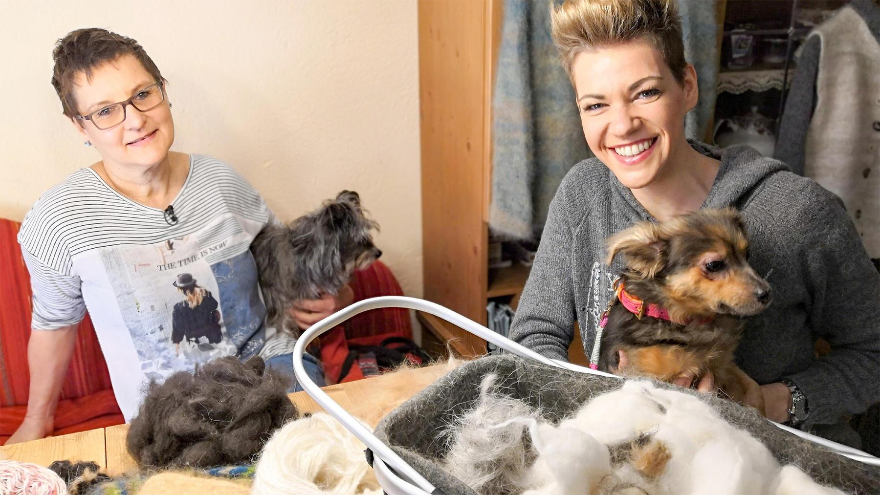 Thema heute u.a.: Stricken mit Hundewolle   Folge 17
