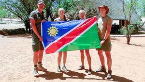 Heute u.a. mit: Familie Reinhardt, Namibia