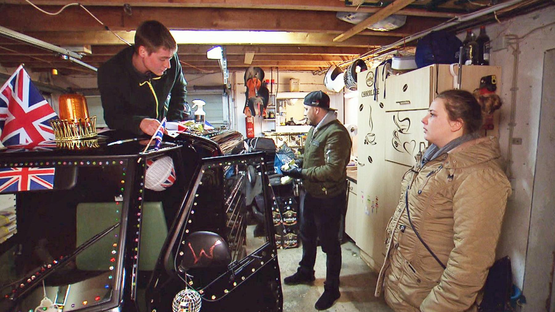 Die große Überraschung: Ein motorisiertes Dreirad für Silvia