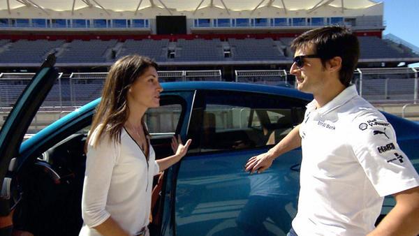 Bruno Spengler und Cyndie Allemann testen BMW X6 M