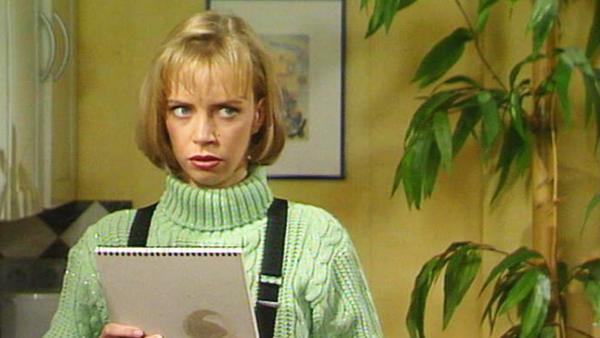 Rita hat Probleme mit dem im Laden versteckten Andy.