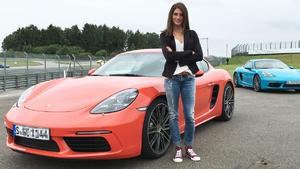 Porsche Cayman 718 beim Drag Race