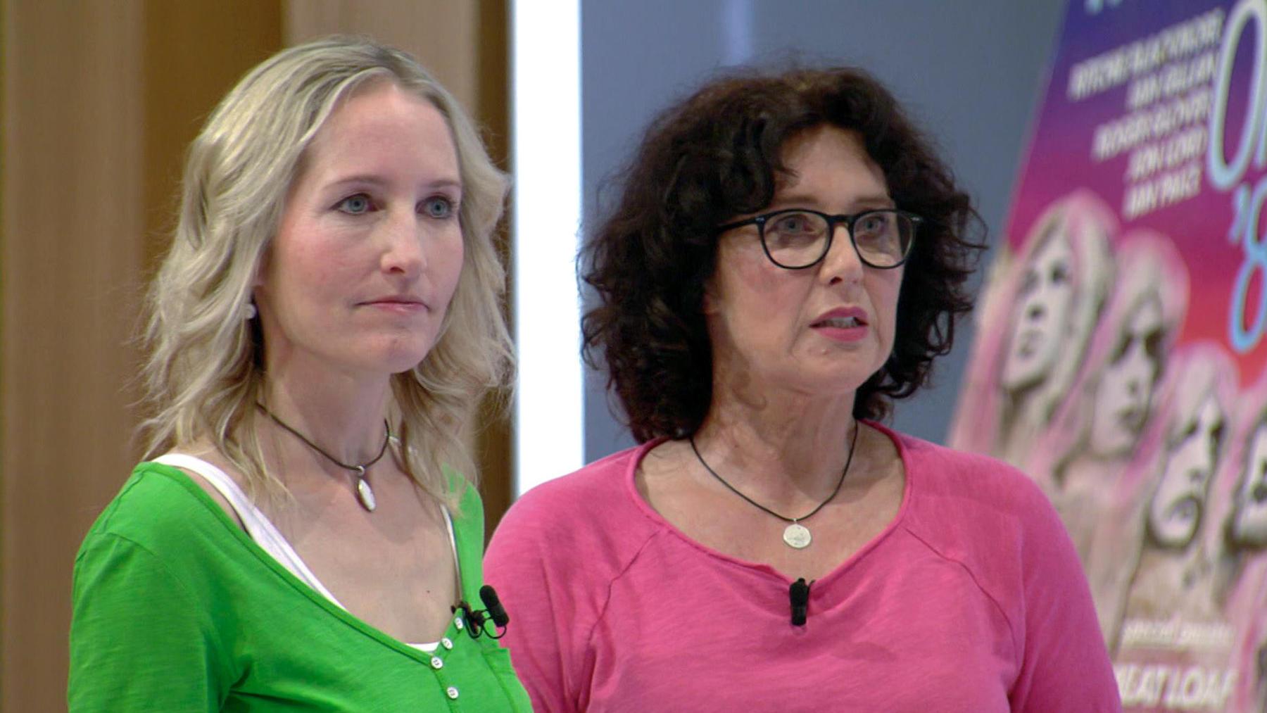 Kandidatenpaar Eva & Bettina / Expertin Sarah
