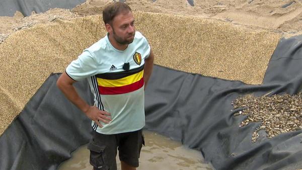 Heute u.a.: Ölfilm im Teichwasser