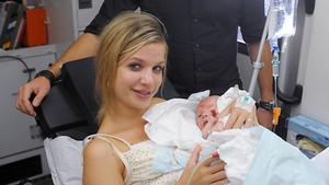 Verena bekommt ihr Kind