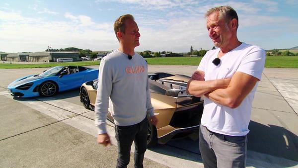 Hypersport-Cabrios - Lamborghini Aventador SVJ vs. McLaren 720S