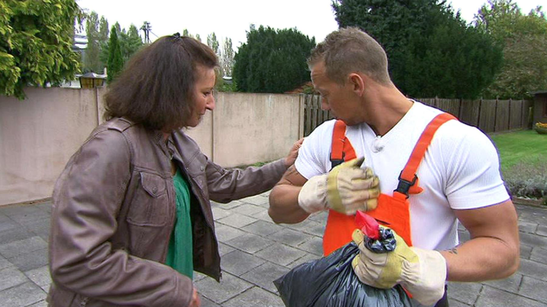 Müllmann will unbedingt Frau kennen lernen