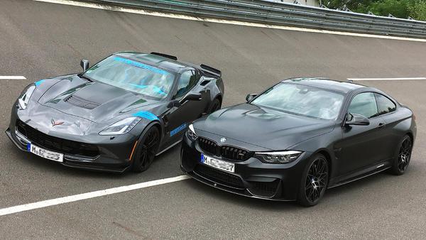 BMW M4 Competition gegen Corvette C7 Grand Sport