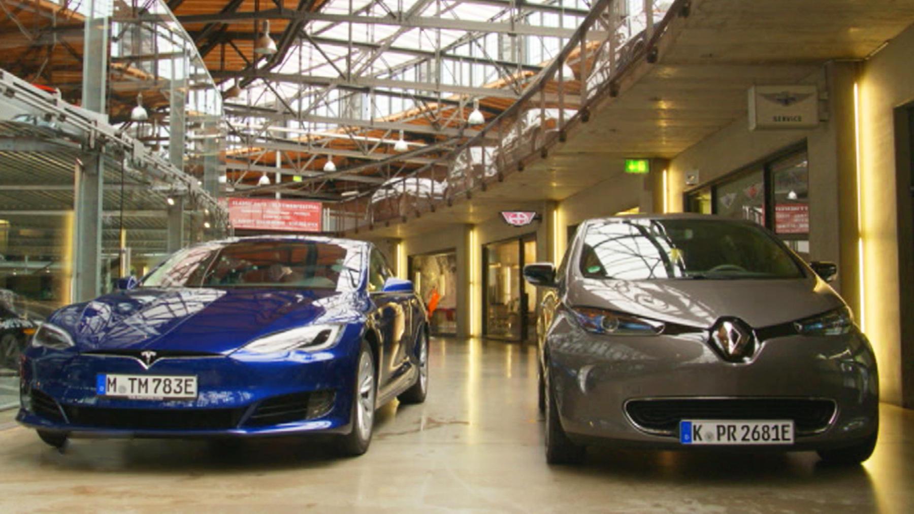 Thema u.a.: Tesla vs. Renault Zoe