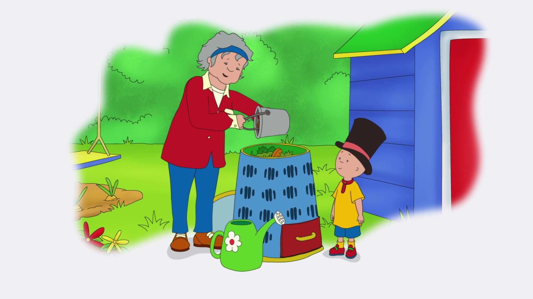 Caillou macht Kompost / Caillous Baum / Caillou spart Wasser   Folge 14