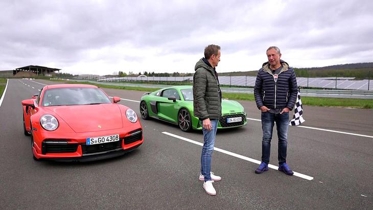 Allrad-Supersportler - Audi R8 V10 Performance vs. Porsche 911 Turbo | Folge 552