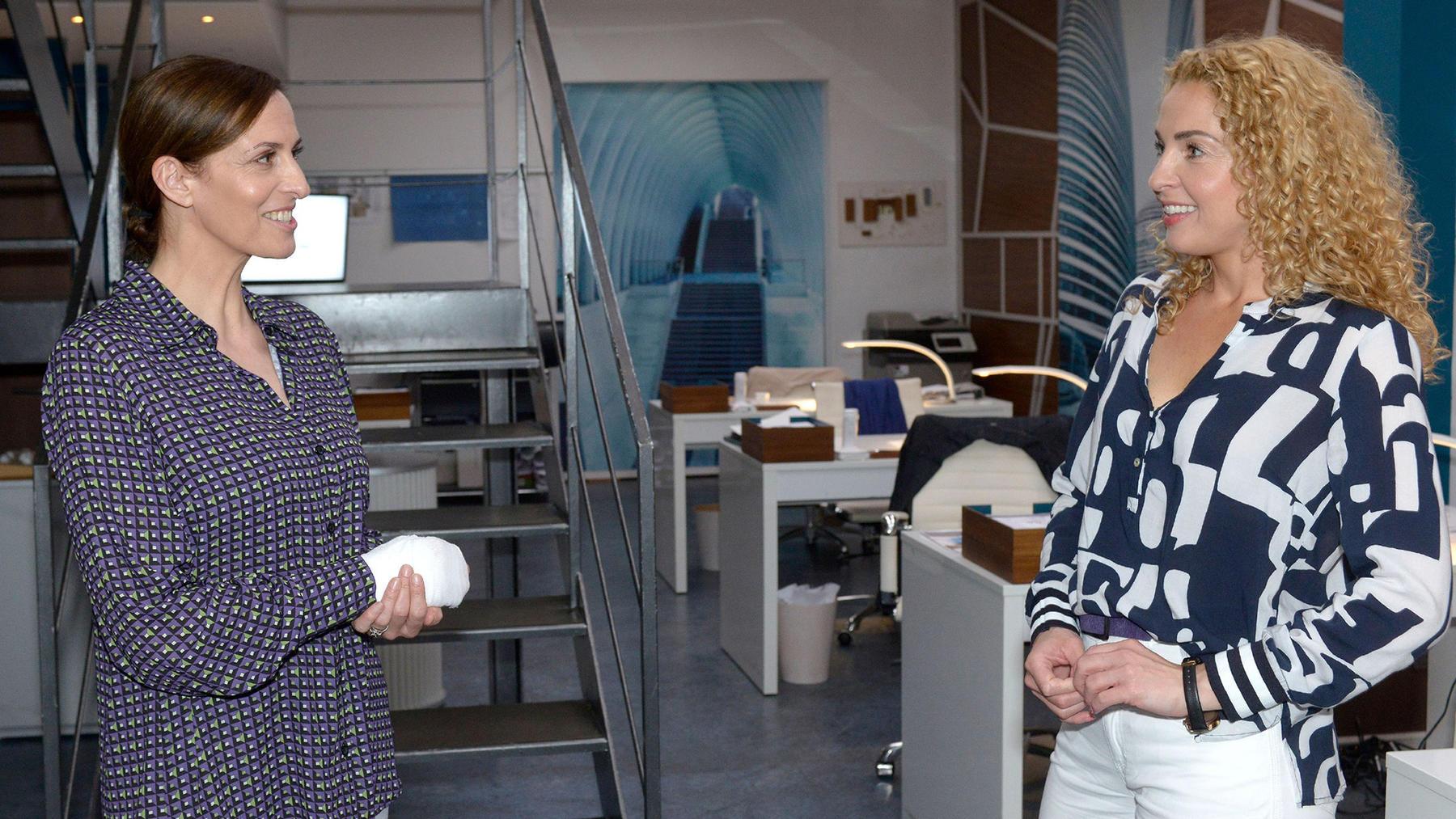 Nina vertritt Katrin als Geschäftsführerin