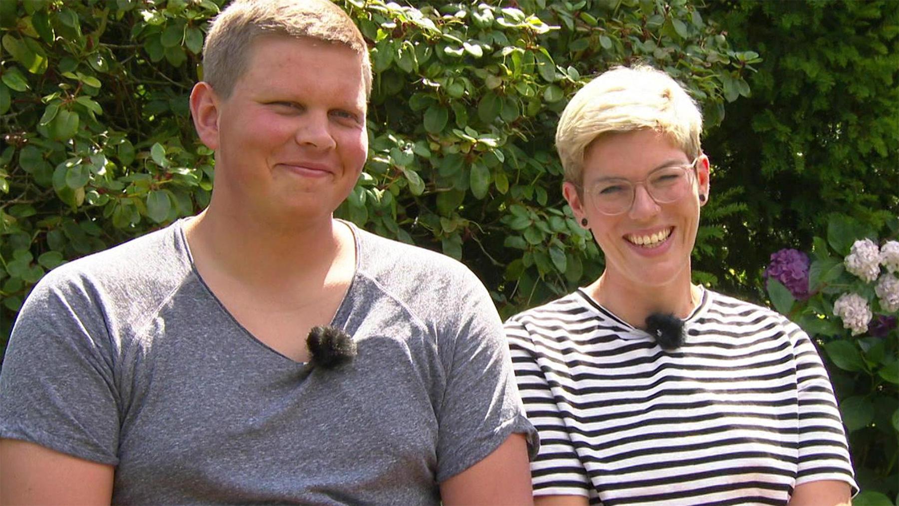 Unterstützung für ein junges Paar
