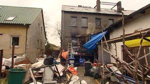 Das ausgebrannte Haus des Schreckens